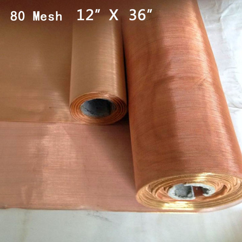 Filter Screen Sale 12*36inches Copper 80 Mesh 200 Micron Dry Sift Filter Screen .0047 Wire H1 Filter Screen For Dry Sifting DIY