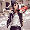 Women Varsity Sweater Jacket  Baseball Coat Faux Leather wear