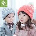 Lovely Winter Girls Boys Baby Cap Kids Knit Hats Five Stars Bear Ear Protect Earflag Warm Wool Blends Crochet Lace Up Beanie Hat