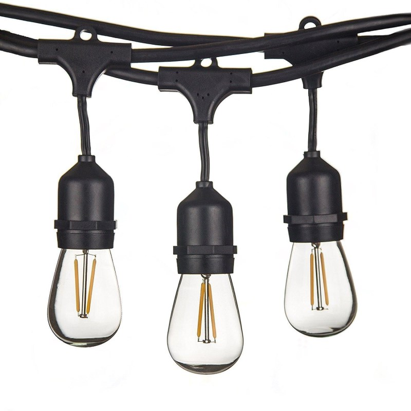 Us 363 0 Pse Listed Hanging Indoor Outdoor String Light For Bistro Pergola Backyard Tents Marke String Lights With 10pcs Hanging Sockets In Holiday