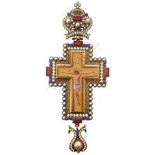 Ортодоксальный жрец грудной крест Русский Греческий распятье религиозное икона византийский художественный церковный Крестильный подарок