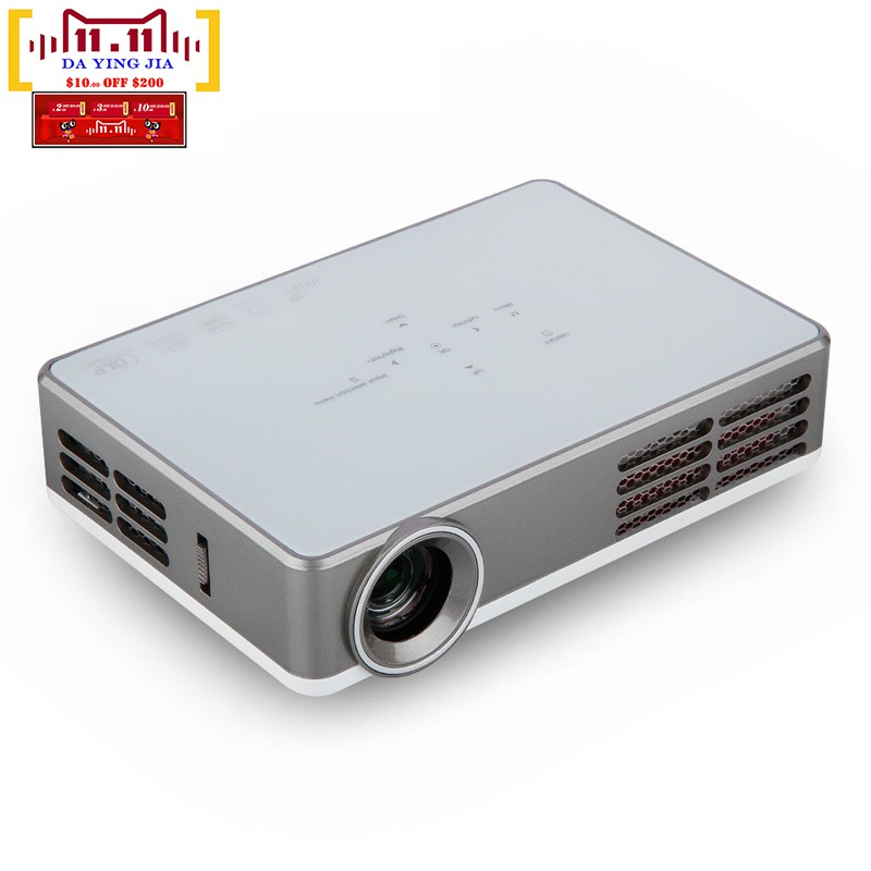 Free shipping 3d android 4 4 projector dlp wifi wireless for Mini wifi projector review