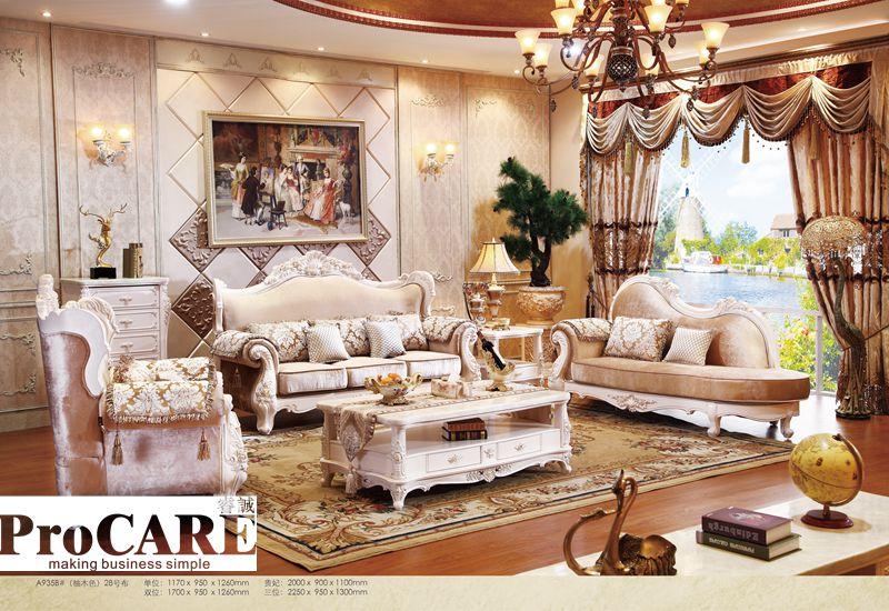 great italien bleu tissu canap fixe salon meubles antique style en bois canap baroque meubles de. Black Bedroom Furniture Sets. Home Design Ideas