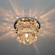 Современный хрустальный 3 Вт светодиодный потолочный светильник светодиодный светильник для помещений светодиодный потолочный белый светильник 0248