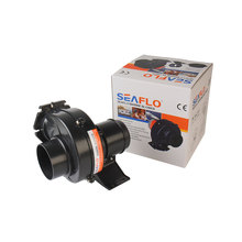 SEAFLO 24V DC Marine Bilge Blower Fan 130CFM Silent Electric Air Blowers Vents Centrifugal Fan Quiet Black