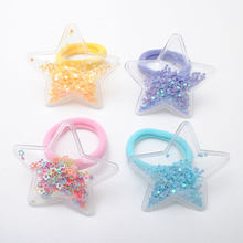 New Elastic Hair band Quicksand Baby Girls Hair Clips Gum Children Hair Accessories Tie Tiara Hairpins Kids Birthday Gift(China)