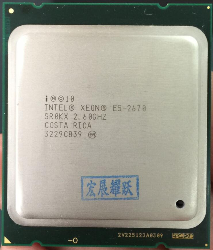 Intel Xeon Processeur E5 2670 E5-2670 CPU (20 M Cache, 2.60 GHz, 8.00 GT/s IntelQPI) GA 2011 SROKX C2 AliExpress Standard Gratuite