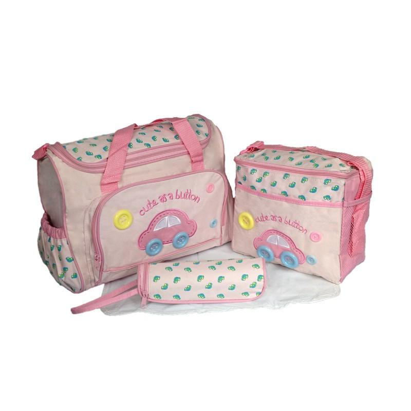 402914cm 4PCS Car Print Mother Bag Baby Diaper Bags Sets Multifunctional Baby Nursing Nappy Bag For Mom Organizer Portable (4)