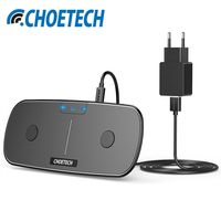 CHOETECH USB C Dual Wireless Charger For IPhone X 8 Qi Wireless Charger For Samsung Note