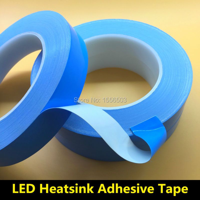 3X 10mm 20mm*25m*0.2mm Transfer Tape Double Side Heat Thermal Conduct Adhesive Tape for LED Module PCB Heatsink CPU instead RTV