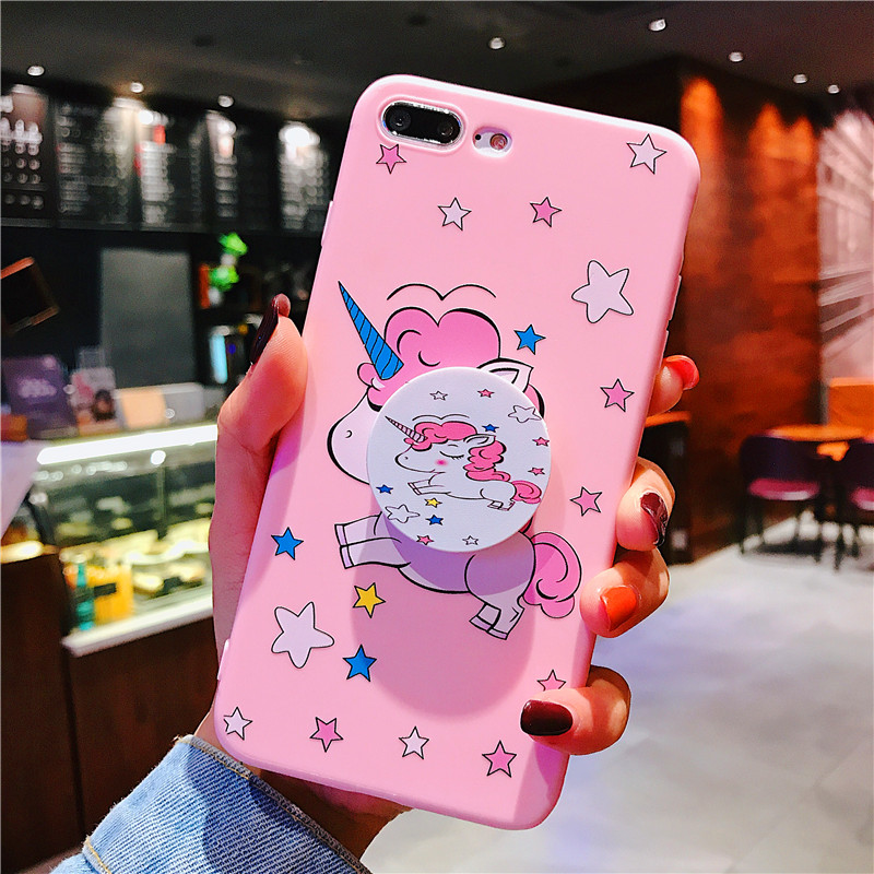 Cute Cartoon Unicorn Pig Phone Case For iphone XS Max Pink