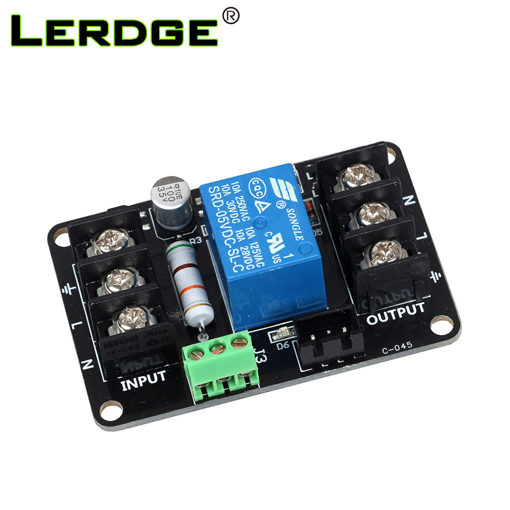 LERDGE 3D-skrivare Strömövervakningsmodul Fortsätt att spela ut automatiskt Sätta av ledningsmodul för Lerdge Board
