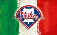 Philadelphia Phillies Flag 3ft X 5ft Polyester Banner Flying With Stripes Metal Grommets Digital Printed