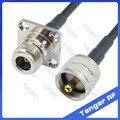 Горячая продажа Tanger UHF штекер PL259 SL16 к N женский 4 четыре отверстия панели прямой RF RG58 Pigtail джемпер коаксиальный кабель 20 дюймов 50 см