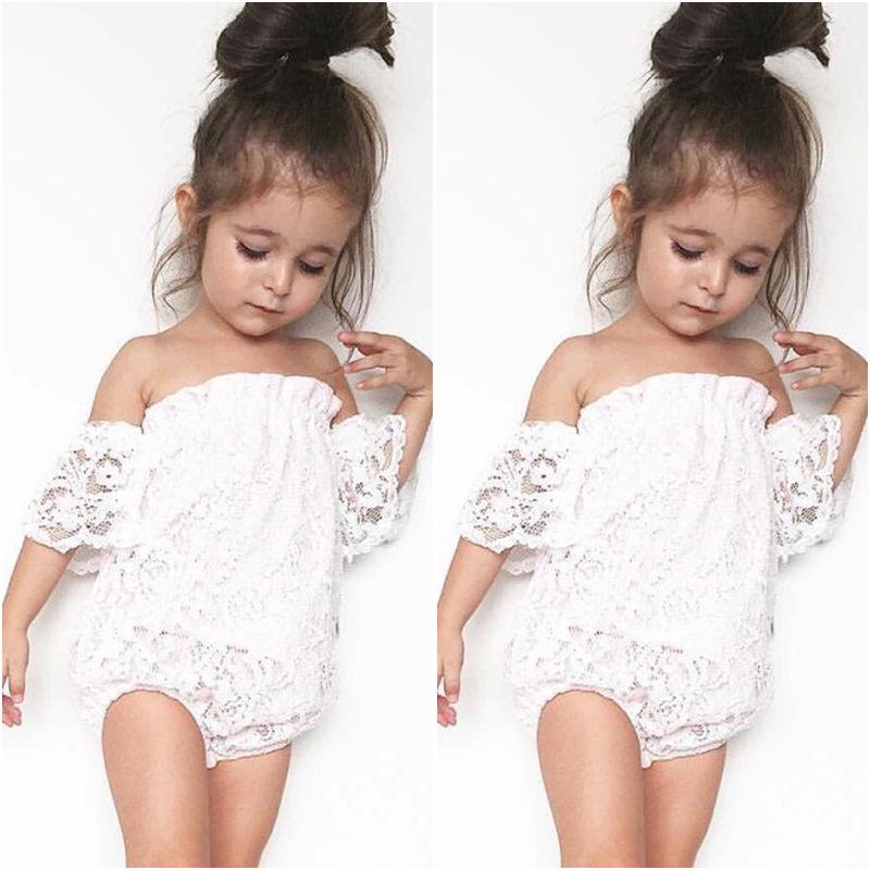 Infant Baby Girl Flower Lace Romper Bodysuit Sunsuit Jumpsuit Outfit Set bodysuit Clothes