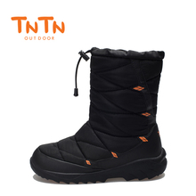 TNTN 2018 Outdoor Winter Waterproof Boots Men And Women Hiking Cotton Warm Fleece Snow Shoes