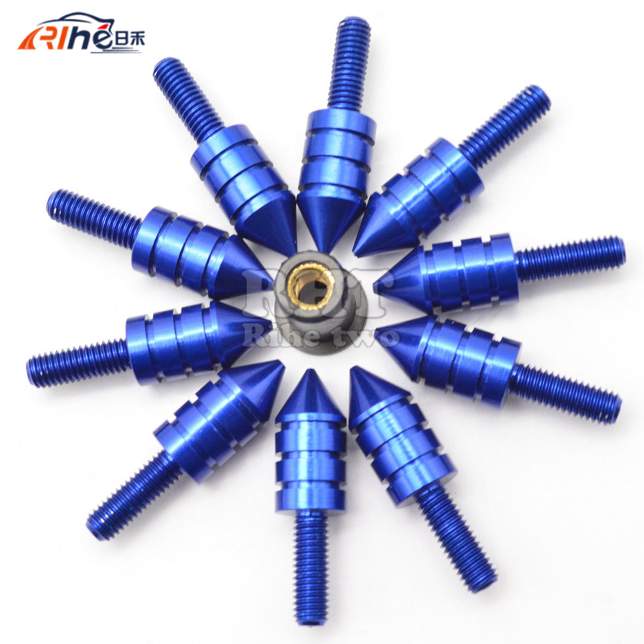 Universal 10pcs M5 Motorcycle Swingarm Spools Slider Windshield Spike Nuts Bolts Screws For BMW G310R G310R  S1000XR F 800 R HP4 universal 10pcs m5 motorcycle swingarm spools slider windshield spike nuts bolts screws for ktm rc390 rc 390 rc125 rc 125 65 sx