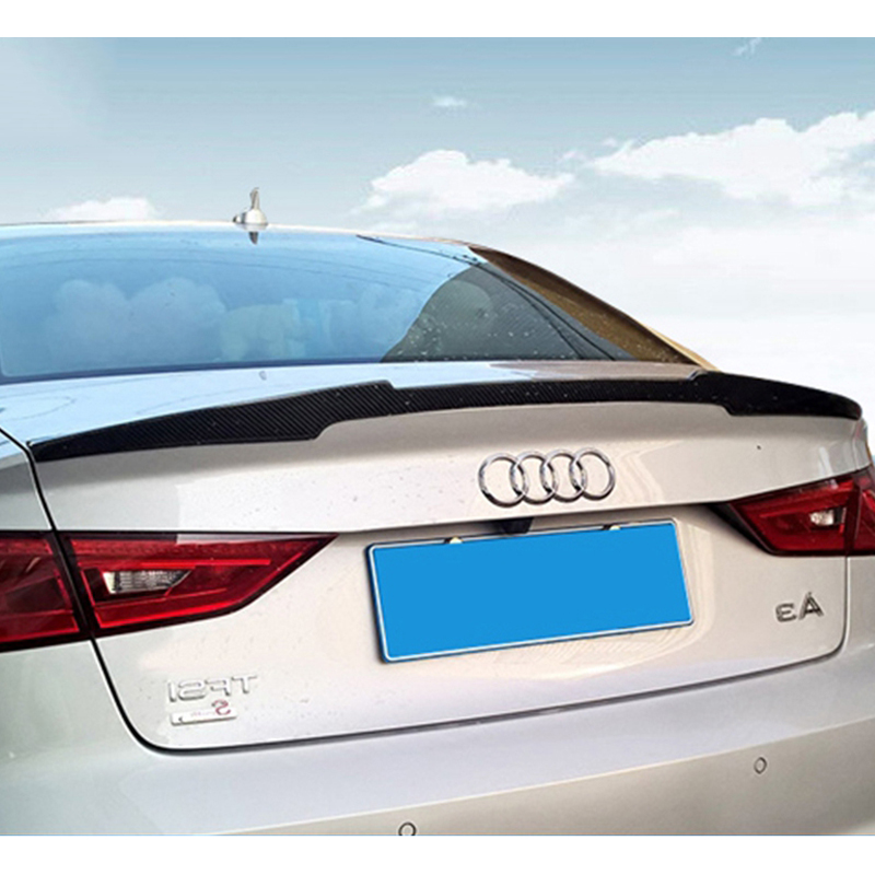 For Audi A3 S3 2014 2015 2016 Sedan 4Doors M4 style high quality carbon fiber rear wing Roof rear box decorated Big spoiler for audi a3 s3 2014 2015 2016 sedan 4doors high quality carbon fiber rear wing roof rear box decorated rear spoiler