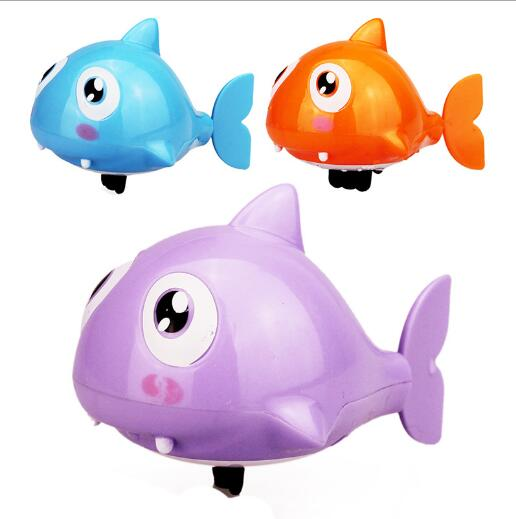 Cute Cartoon Funny Baby Bath Swimming Animal Fish Clockwork Wind Up Water Toy Shark Plastic Pool Bath Kids Gift Toy YH986