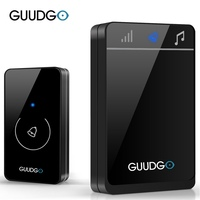 Guudgo GD MD01 Wireless Touch Screen Music Doorbell Portable Waterproof Doorbell 52 Melody Chime For Home