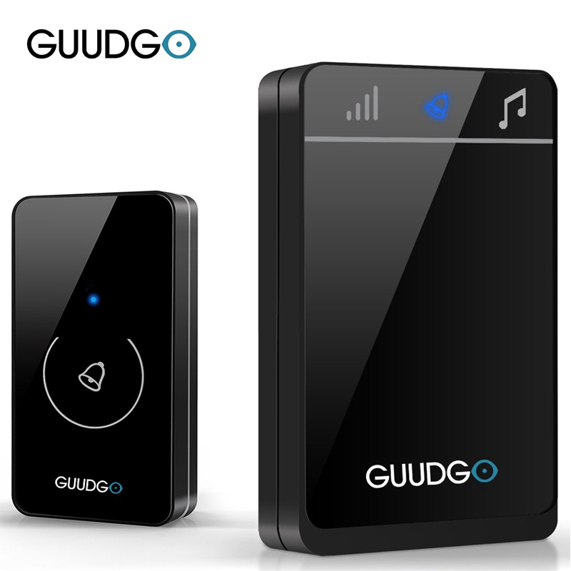 Guudgo GD-MD01 Wireless Touch Screen Music Doorbell Portable Waterproof Doorbell 52 Melody Chime for Home Security