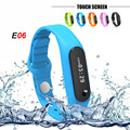 Touch Screen Smart Band Wristband E06 Bracelet Fitness Wearable Tracker Waterproof IP67 Bluetooth Watch for Android