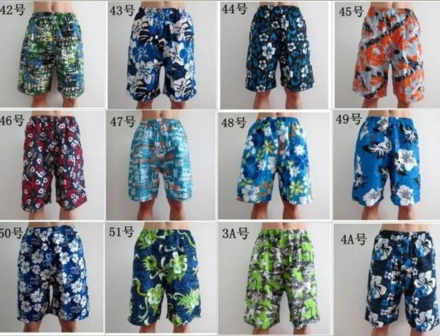 2018 Shorter Length,Mens Board Patterned Shorts Trousers Sand Beach Short Leisure Pants/men's Shorts Summer 200pcs