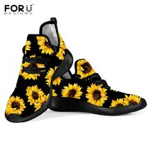 FORUDESIGNS 2019 New Woman Flats Shoes Beautiful Sunflower F