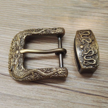 Hebilla de cinturón de latón macizo de cobre dragón Vintage envejecido de 40mm cinturón con hebilla Botón de bucle DIY accesorios de cuero