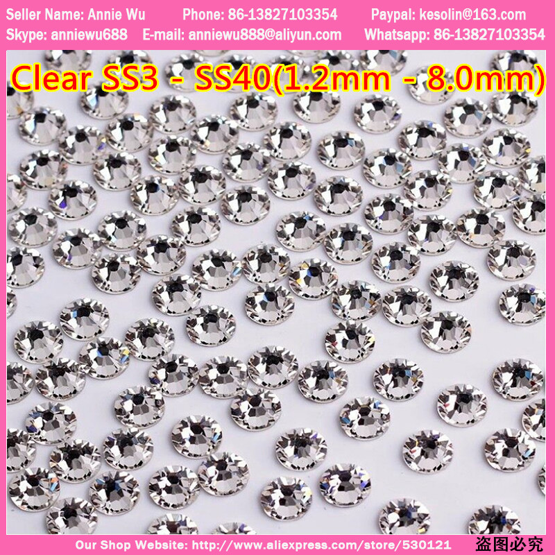 Free Shipping ss3-ss40 1440pcs Non Hotfix Original Elements Crystal Nail Art Clear Rhinestone AB Crystal ss3 ss4 ss6 ss10 ss20 ss16 1440pcs bag hot selling nail art tips gems crystal glitter rhinestone diy decoration nail size 3 8 4 0mm free shipping