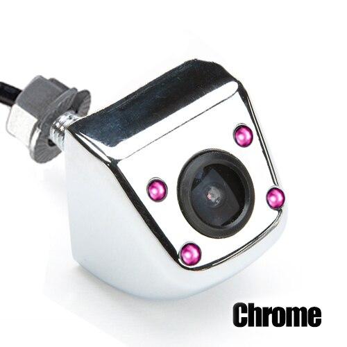Hipppcron Автомобильная камера заднего вида 4 светодиодный монитор ночного видения заднего вида Авто парковочный монитор CCD водонепроницаемый 170 градусов HD видео - Название цвета: 104 Infrared Chrome