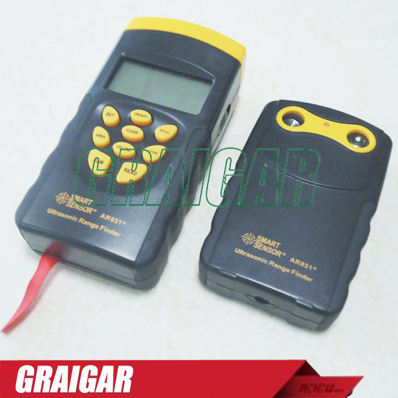 Smart Sensor AR851+ Ultrasonic Laser Distance Gauge 0.5m ~60m 20inch~197ft dmdg d03 ultrasonic smart car mounted holder w hc sr04 ultrasonic sensor distance measuring module