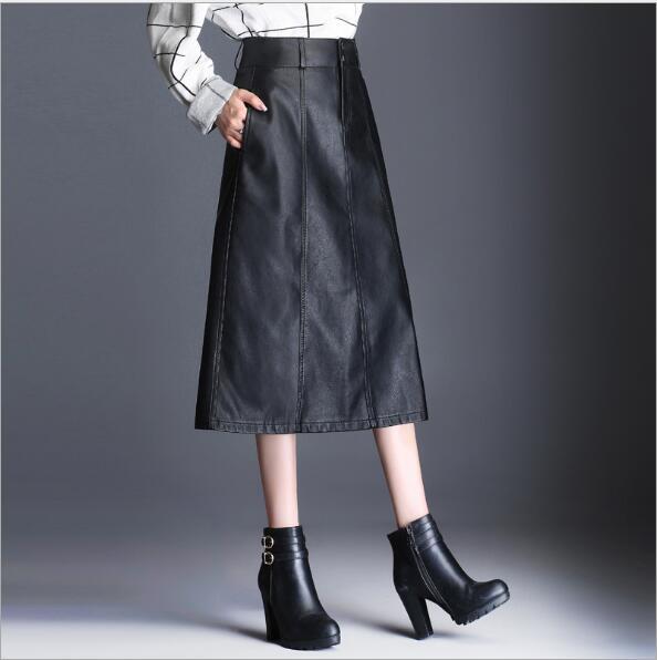 2017 autumn and winter font b women s b font new fashion solid High waist self