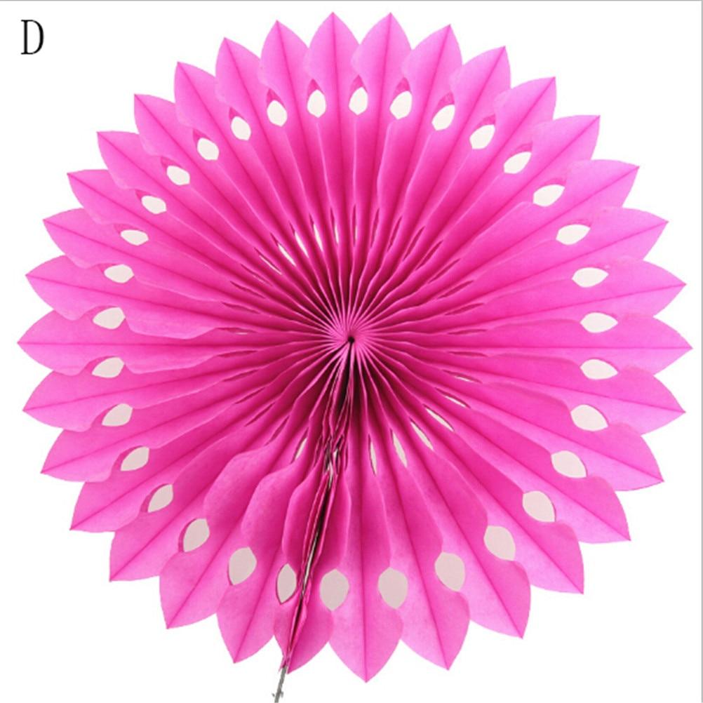 Pinwheels Hanging Flower Paper Folding Fans Tissue Paper Cut Out