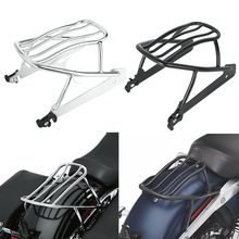 Motorcycle Solo Luggage Rack Shelf For Harley Dyna Street Bob Super Glide FXD FXDB FXDC Custom Low Rider