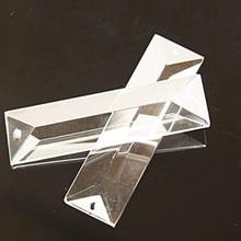 20 шт./лот, прозрачная стеклянная призма подвеска в 2 отверстия, хрустальная люстра части хрустальная лампа Висячие капли свадебное украшение