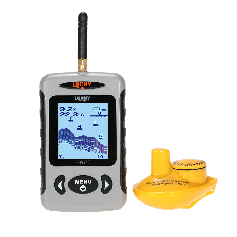 Lucky ffw718 wireless fish finder for fishing sonar alarm for Lucky fish finder