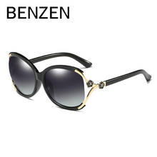 BENZEN Luxury Flower Sunglasses Women Brand Designer Female Polarized Sun Glasses Ladies Driving Glasses Shades With Box 6370