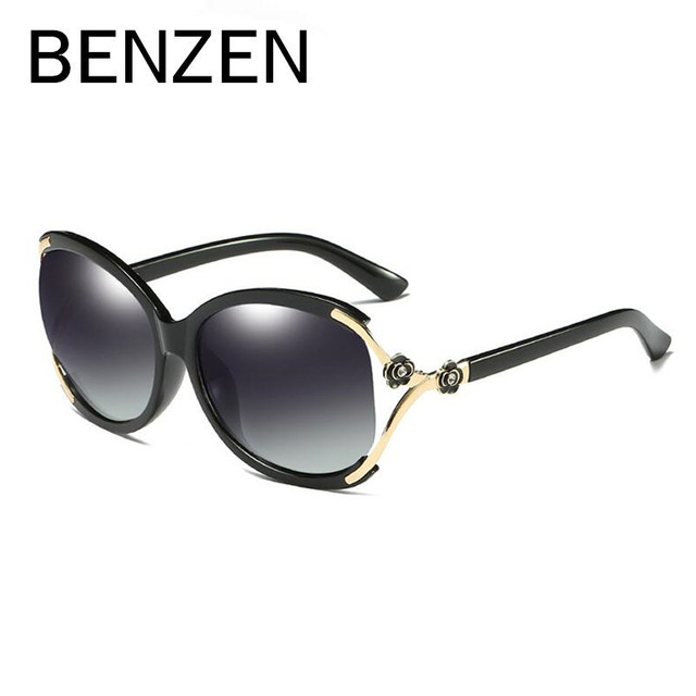 ab46a902d681 BENZEN Luxury Flower Sunglasses Women Brand Designer Female Polarized Sun  Glasses Ladies Driving Glasses Shades With Box 6370