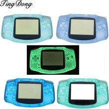 Tingdongグリーン & ブルーゲームボーイアドバンスダークプラスチックケースにシェルケースハウジングw gbaのための発光ケースカバー