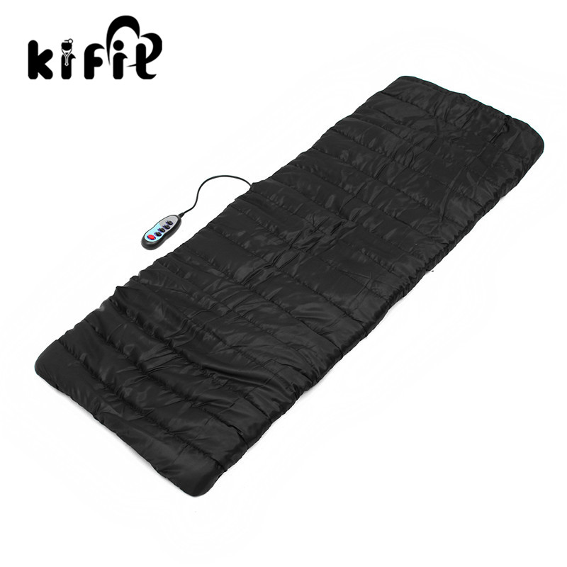 KIFIT 9 Motor Chair Heat Body Massage Mat Seat Cushion Body Back Neck Pain Support Pad Health Care Massager Tool 240337 ergonomic chair quality pu wheel household office chair computer chair 3d thick cushion high breathable mesh