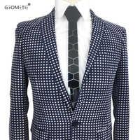 Геометрический Блестящий акриловый черный галстук, обтягивающие шестигранные галстуки с зеркальной отделкой, стильный мужской аксессуар, ...