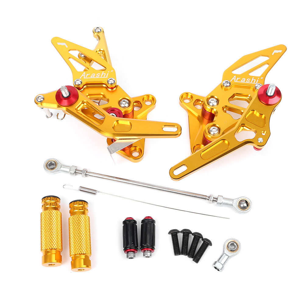 CNC Aluminum Motorcycle Rear Sets Rearset Foot Pegs Rest Footpegs for Suzuki Hayabusa GSX1300R GSXR 1300
