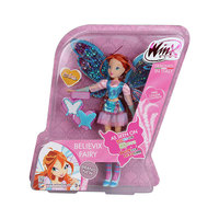 BIG!! 28CM High Winx Club Doll Bloom Girl Action Figures Dolls with Wing and Mirror Comb Classic Toys for Girls Gift