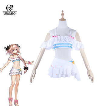 ROLECOS Fate Astolfo Cosplay Costume Game Apocrypha Swimsuit FGO Cosplay Women Costume Girl Swimsuit Fate Grand Order Bikini - DISCOUNT ITEM  45% OFF All Category