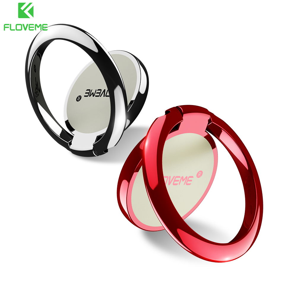 FLOVEME Finger Ring <font><b>Holder</b></font> Stand For Phone Universal 180 Rotate For iPhone X SE 5 5S 6 7 8 Xiaomi <font><b>Smartphone</b></font> <font><b>Desk</b></font> Stand <font><b>Holders</b></font> image
