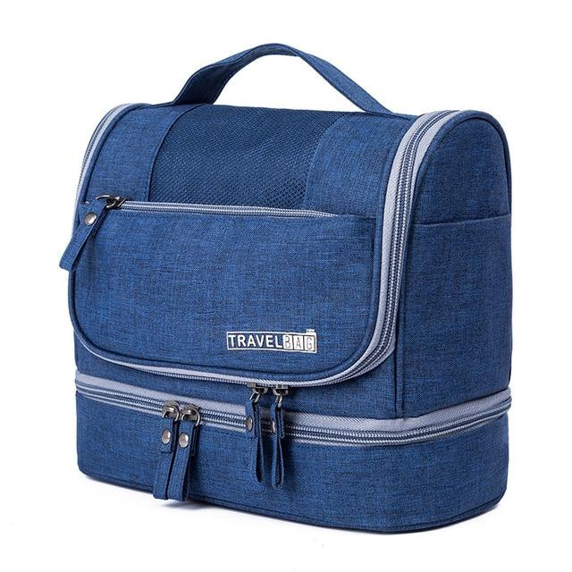 96b741b337 600D Waterproof Oxford Women Makeup Bag Fashion Multi Function Big Cosmetic  Organizer Portable Travel Hanging Toiletry Bag