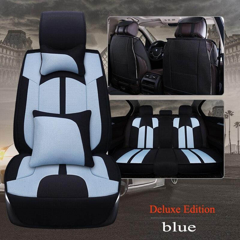 Kalaisike льна универсальное автокресло крышка для Isuzu все модели D MAX Му X 5 сидения авто аксессуары Тюнинг автомобилей