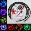 LED Strip Under Car Tube Underbody System 4x Waterproof RGB 5050 SMD Flexible Neon Light Kit