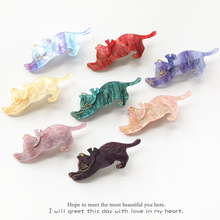 2019 New Young Girls  Hairpins Elegant lady Acrylic Hair Clips 5pcs Headwer Cute Cat Shape Fashion Accessory